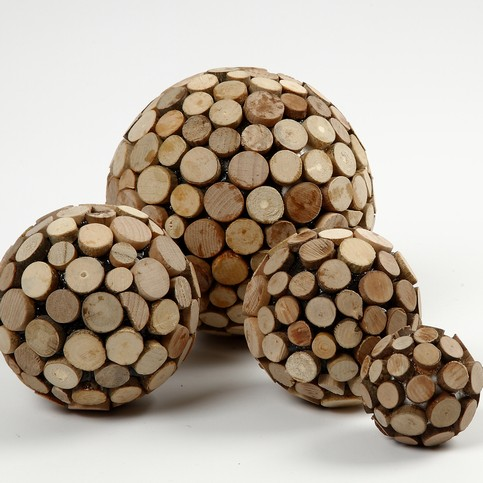 Wooden Decorative Balls Extraordinary Balls With Wooden Discs Inspiration