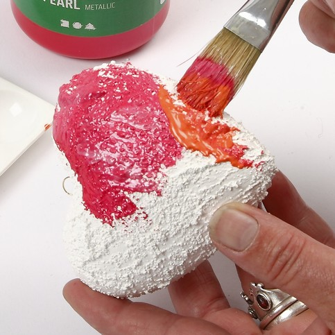 Craft Ideas Polystyrene Hearts