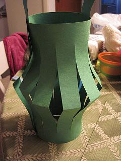how to make a paper lantern with popsicle sticks