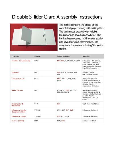 Free printable blank double sliding reveal card template raspberry.