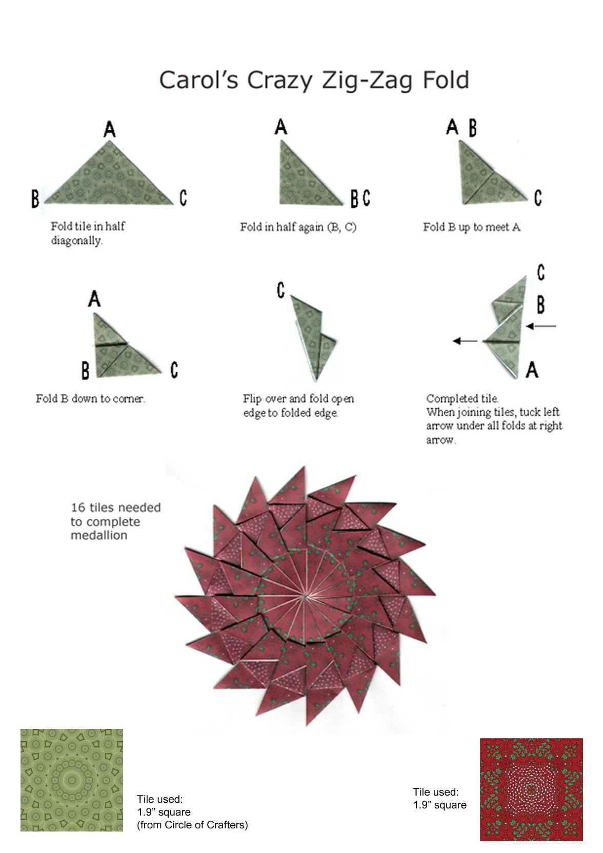 Tea Bag Folding Instructions | 1664x1176
